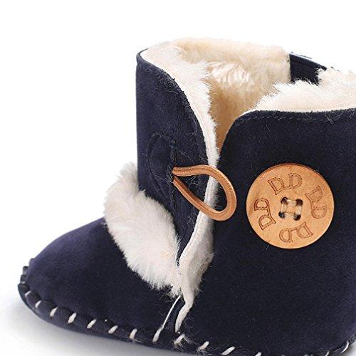 ❆Huhu833 Kinder Mode Baby Stiefel Soft Sole, Warm Schnee Weiche Sohle Schneeschuhe Krippe Kleinkind Stiefel (0-18 Month) Dunkel Blau