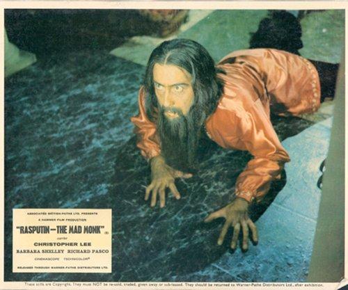 RASPUTIN THE MAD MONK CHRISTOPHER LEE HAMMER HORROR ORIGINAL LOBBY CARD from Silverscreen