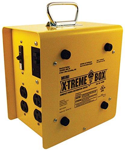 Southwire 19800102 Mini X-Treme Box Portable Temporary Power Distribution Box, Converts (1) L14-30P to (8) 5-20R