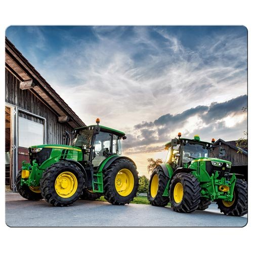 (26x21cm / 10x8inch gaming mousemat cloth + rubber High quality mice john deere famous top brand logo)