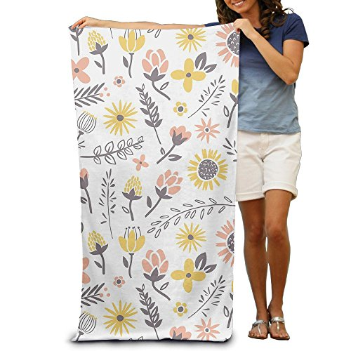 Disaeq Flower Party Winter Beach Bath Pool Hooded Extra Large Towels