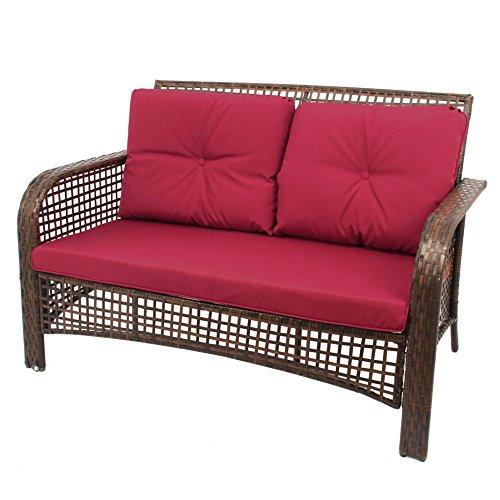 Buy Sectional Sofa In Dubai: 4 PCS Outdoor Patio Sofa Set Sectional Furniture PE Wicker