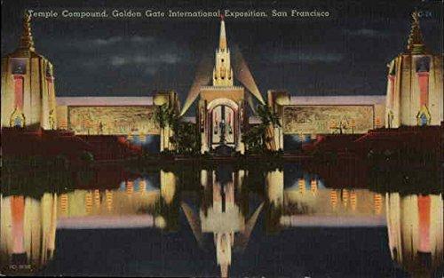 The Temple Compound - Golden Gate International Exposition San Francisco, California Original Vintage Postcard from CardCow Vintage Postcards