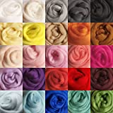 Jeteven 36 Colors Spinning Sewing Trimming Merino Wool Fibre Roving For Needle Felting