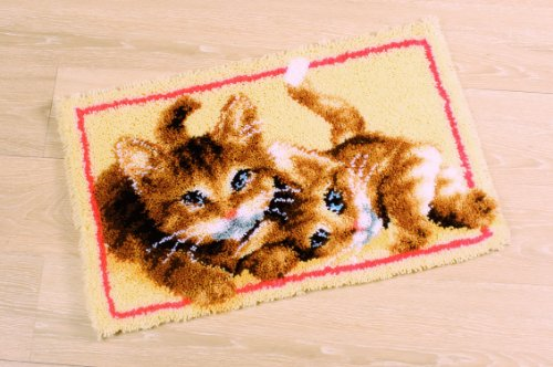 Vervaco PN-0145610 Knüpfteppich Katzen
