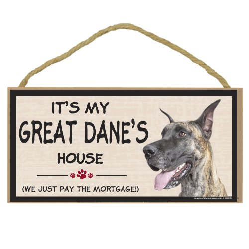 Imagine This Wood Breed Decorative Mortgage Sign, Great Dane