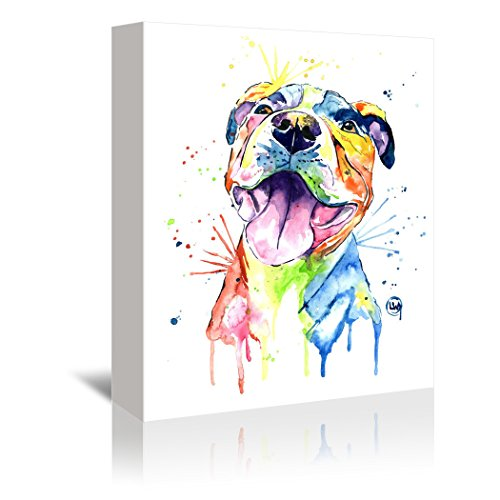 Americanflat Gallery Wrapped Canvas - Pit Bull  - Lisa Whitehouse, 32'' x 48'' by Americanflat