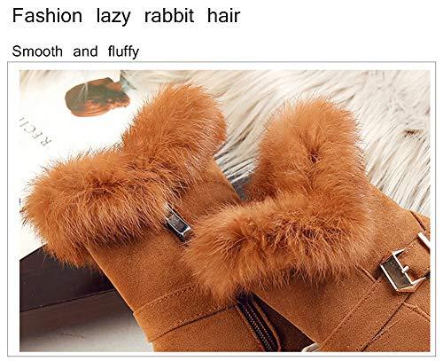 Zapatos Corto De Libre Botas Antideslizantes Nieve para Gruesos De De Aire Algodón Invierno Brown Tubo Mujer Al BYBwXq