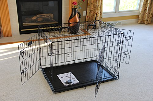 EliteField-3-Door-Folding-Dog-Crate-with-RUBBER-FEET-5-Sizes-10-Models-Available