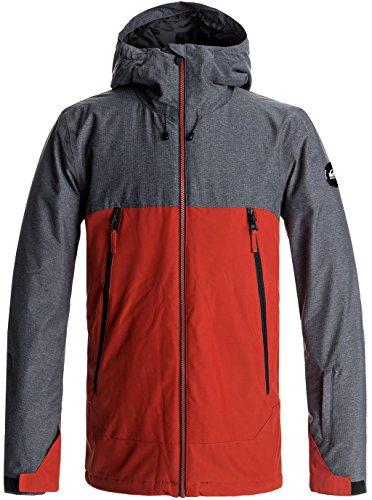 Quiksilver Men's Sierra 10k Insulated Snowboard Ski Jacket, Ketchup Red, S