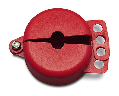 """Gate Valve Lockout, 1"""" -2.5"""", Red, Up to 3 Padlocks 3/8""""Dia, Recycled Polycarbonate,"""