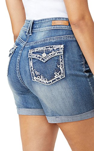 WallFlower Women's Juniors Plus-Size Luscious Curvy Bling Shortie Shorts in Hilaria, 22 Plus