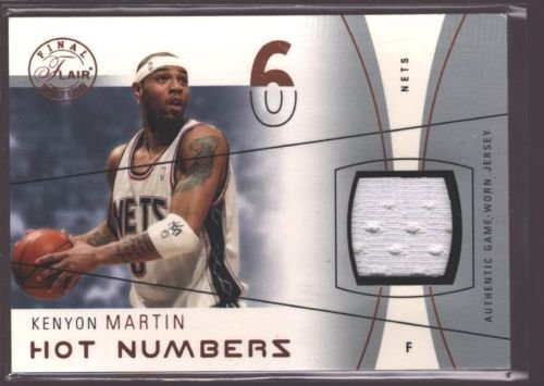 Flair Hot Numbers (KENYON MARTIN 2003-04 FLAIR HOT NUMBERS GAME USED JERSEY PATCH NETS /75 $15)