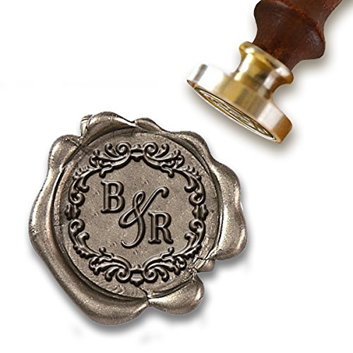 Wedding Custom Wax Seal Stamp Kit with Sealing Wax-1