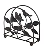 Cast Iron Bird & Tree Classic Napkin Holder/Tabletop Freestanding Tissue Dispenser, Brown