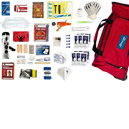 - Complete Earthquake Bag - Most popular emergency kit for earthquakes, hurricanes, floods + other disasters (4 person, 3 days)