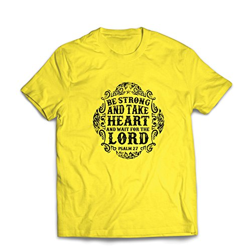 lepni.me T Shirts For Men Wait For The Lord - Books On The Psalms - Easter...