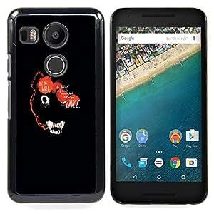 ABSTRACT DARK WOLF ANIMAL FACE Caja protectora de pl¨¢stico duro Dise?ado King Case For LG Google Nexus 5X