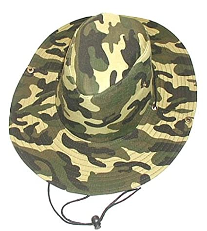 84cd69a0 Amazon.com : Camo Two-Way Boonie Hat ~ Safari Aussie Outback Cap ~ Lt Green  : Sports & Outdoors