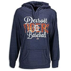 Detroit Tigers Ladies All Star Hoody, Blue, Ladies' Medium