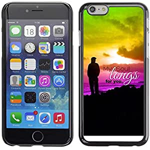 "Planetar® ( Bible Verse-MY SOUL LONGS FOR YOU - PSALM 43:6 ) 5.5"" iPhone 6 Plus Fundas Cover Cubre Hard Case Cover"