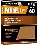 "Fandeli 36021 060 Grit Multipurpose Sandpaper Sheets, 9""  x 11"", 25-Sheet"