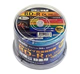 50 Hi-Disc Bluray 50GB BD-R Dual Layer 6x Speed No Logo Fully Printable Factory Sealed in Spindle