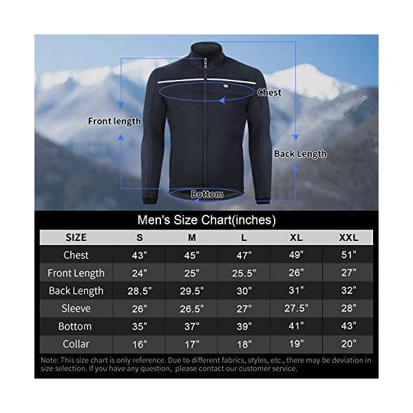 Cuzaekii Mens Winter Cycling Jacket Thermal Windproof MTB Bike Windbreaker