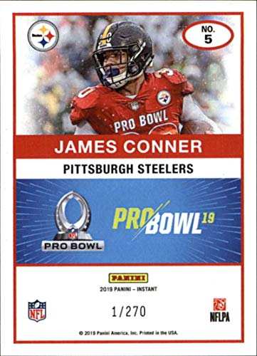 Amazon.com  2018 Panini Instant NFL Pro Bowl 1989 Score Design Football  5 James  Conner Pittsburgh Steelers Official NFL Football Trading Card ONLINE ... 3d153eaf1