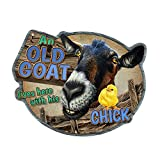 Old Goat and His Chick Novelty Sign