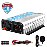 1600W Power Inverter 12V DC to 110V 120Volt AC with 20A Solar Charge Controller and Remote Control and Dual AC Outlets & 2.4A USB Port for RV Truck Solar System by GIANDEL