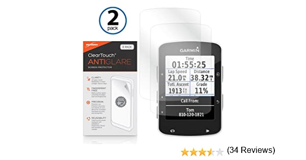 Garmin Edge 520 Protector de pantalla, BoxWave® [ClearTouch Anti-brillos (2- Pack)] antihuellas mate película piel Para Garmin Edge 520: Amazon.es: Electrónica