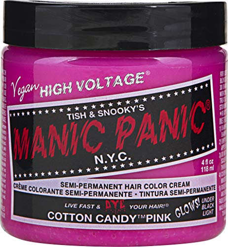 (Manic Panic Semi-Permanent Hair Color Cream, Cotton Candy Pink 4 fl oz.)