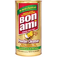 Bon Ami Powder Cleanser for Kitchens & Bathrooms - All Types of Surfaces, Cleans Grime & Dirt, Polishes Surfaces, Absorbs Odors (2 Pack)