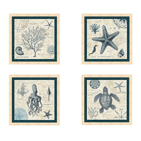 Metaverse Framed Art (Metaverse Pela 'Ocean Life' Framed Art (Set of 4))