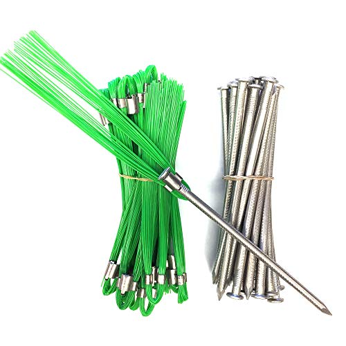 Garden Markers - Package of 25 Green 6 Inch Marking Whiskers with Lightweight, Non-Rust, Aluminum Stakes ()