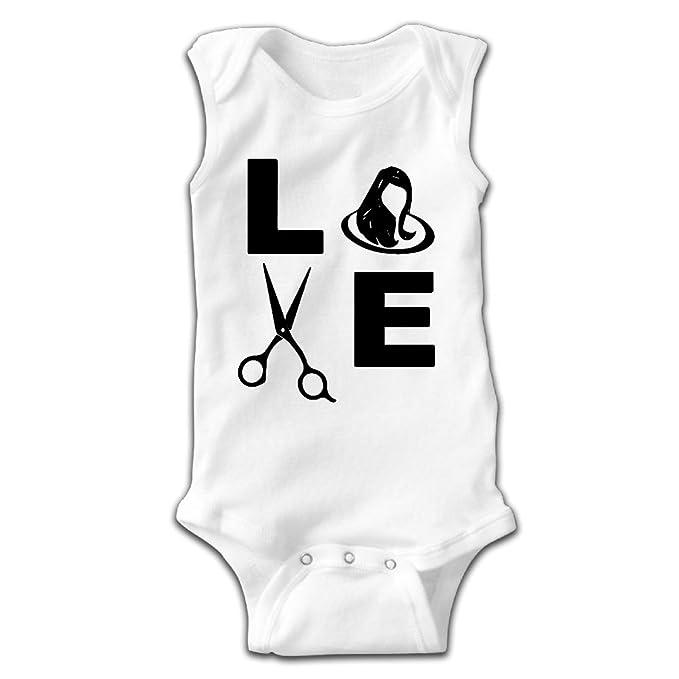 Love Hair Womens Baby Newborn Crawling Clothes Sleeveless Onesie Romper  Jumpsuit White bc1e95b620