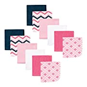 Luvable Friends 12 Piece Washcloths, Pink Chevron