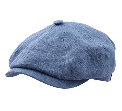 Stetson Hatteras Linen Newsboy Cap Size L ()