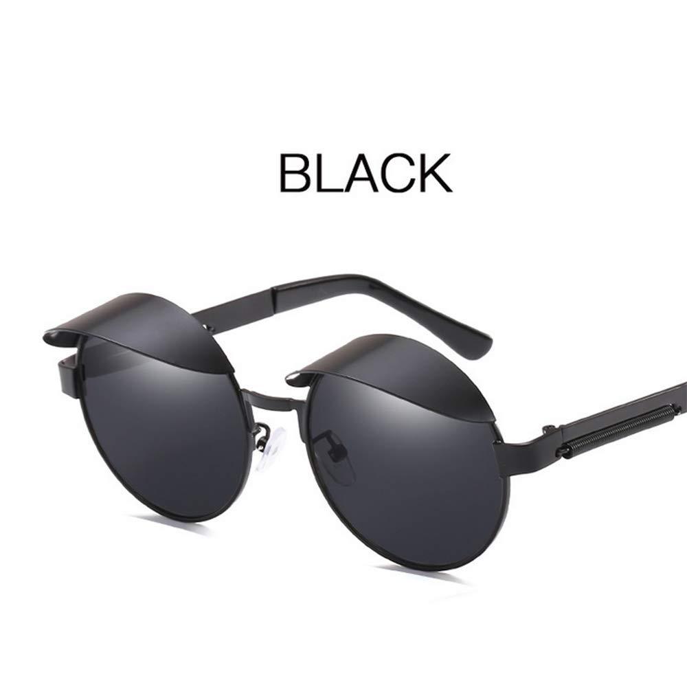 Amazon.com: JURUI - Gafas de sol redondas de metal con ...