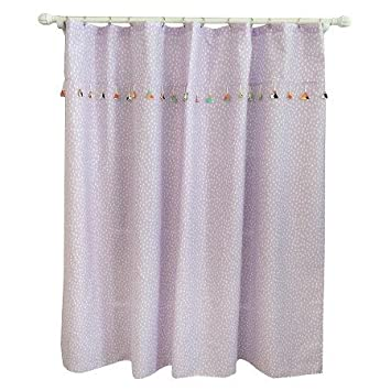 New Tassel Shower Curtain Aster Purple