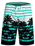APTRO Swim Trunks Bathing Suits Men Hawaiian Shorts #1525 Aqua M