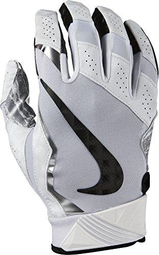 huge discount a80b7 8dc8f Nike Vapor Jet Gloves 4 White Metallic Silver Black Size Small