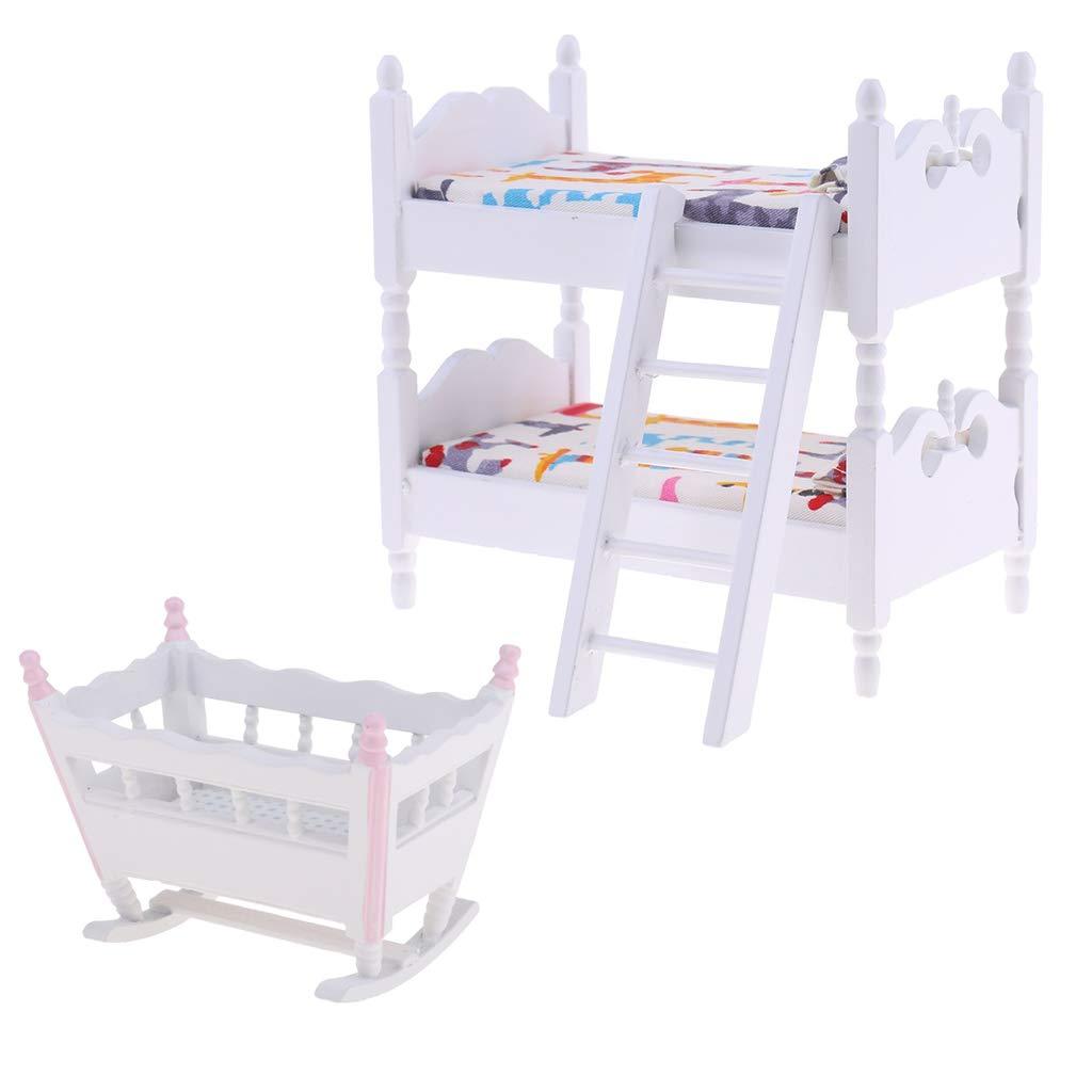 Baoblaze 1 12 Puppenhaus Kinder Schlafzimmer M ö Bel Miniatur
