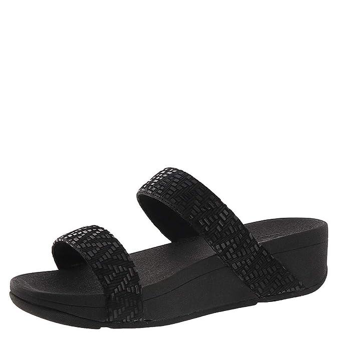 68987eeaa24 Fitflop Lottie Chevron Slide Sandal 2019 Black  Amazon.co.uk  Shoes   Bags