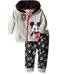 Disney Baby Boys' 2-Piece Mickey Mouse Hoodie and Printed Jogger Set