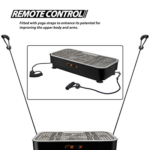 Merax Whole Body Vibration Platform Exercise Fitness Machine w/Straps and Romote Control (Black)