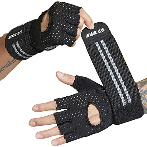 MEYUEWAL Wrist Brace, Workout Gloves, Full Palm Protection and New Ventilation Design, Great for Weightlifting, Training, Fitness, Workout, Yoga, Pull up or more, Men&Women Training Glove Medium(Pair)