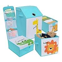 Redmon for Kids Safari Storage Organizers, Baby Blue
