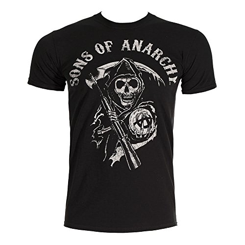 Sons of Anarchy Official Reaper Men's T-Shirt (XXL) [Apparel] Black]()